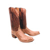 Tan Burnished Hornback Caiman Crocodile Head Cut