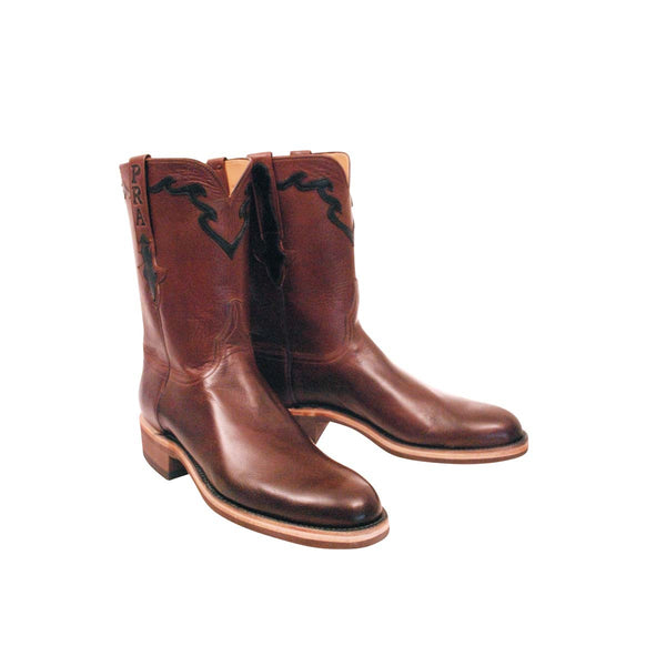 Whiskey Burnished Baby Buffalo Custom Lucchese Boots