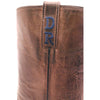 "Navy Blue Sueded Nile Crocodile Belly 10"" Custom Lucchese Boots"