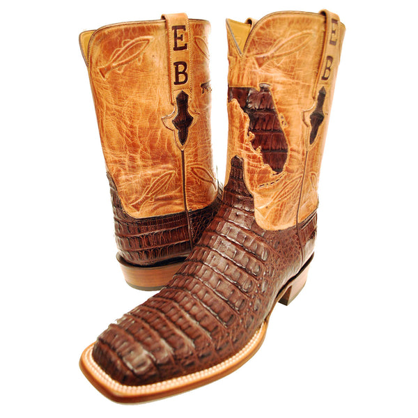 Home State Hand Cut Caiman Crocodile
