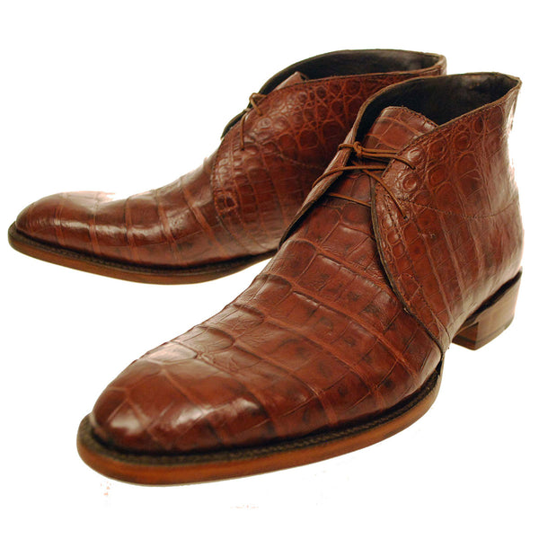 Sienna Caiman Crocodile Belly Chukka Boot