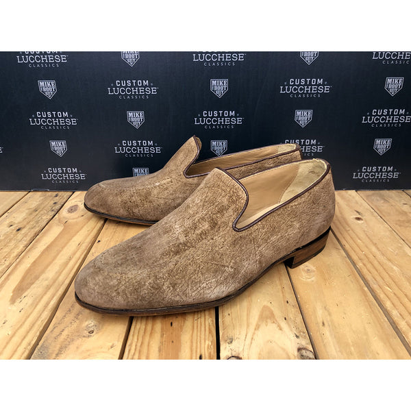 Custom Lucchese Shoes - Tan Hippo