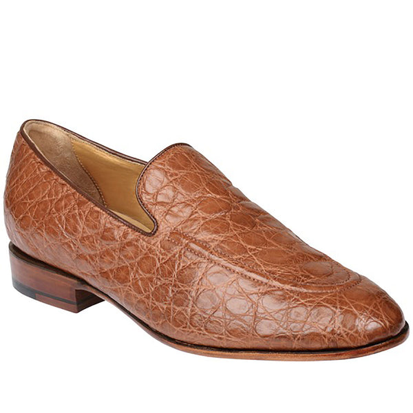 Cognac Giant Wild American Alligator Loafer