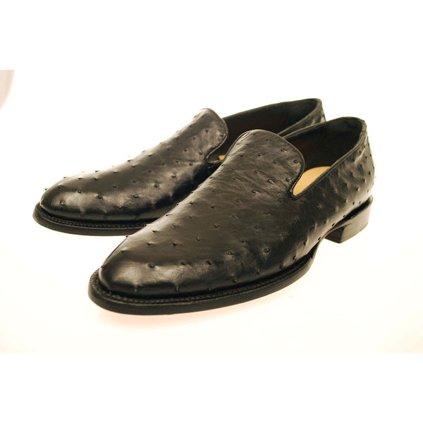 Black Full Quill Ostrich Loafer