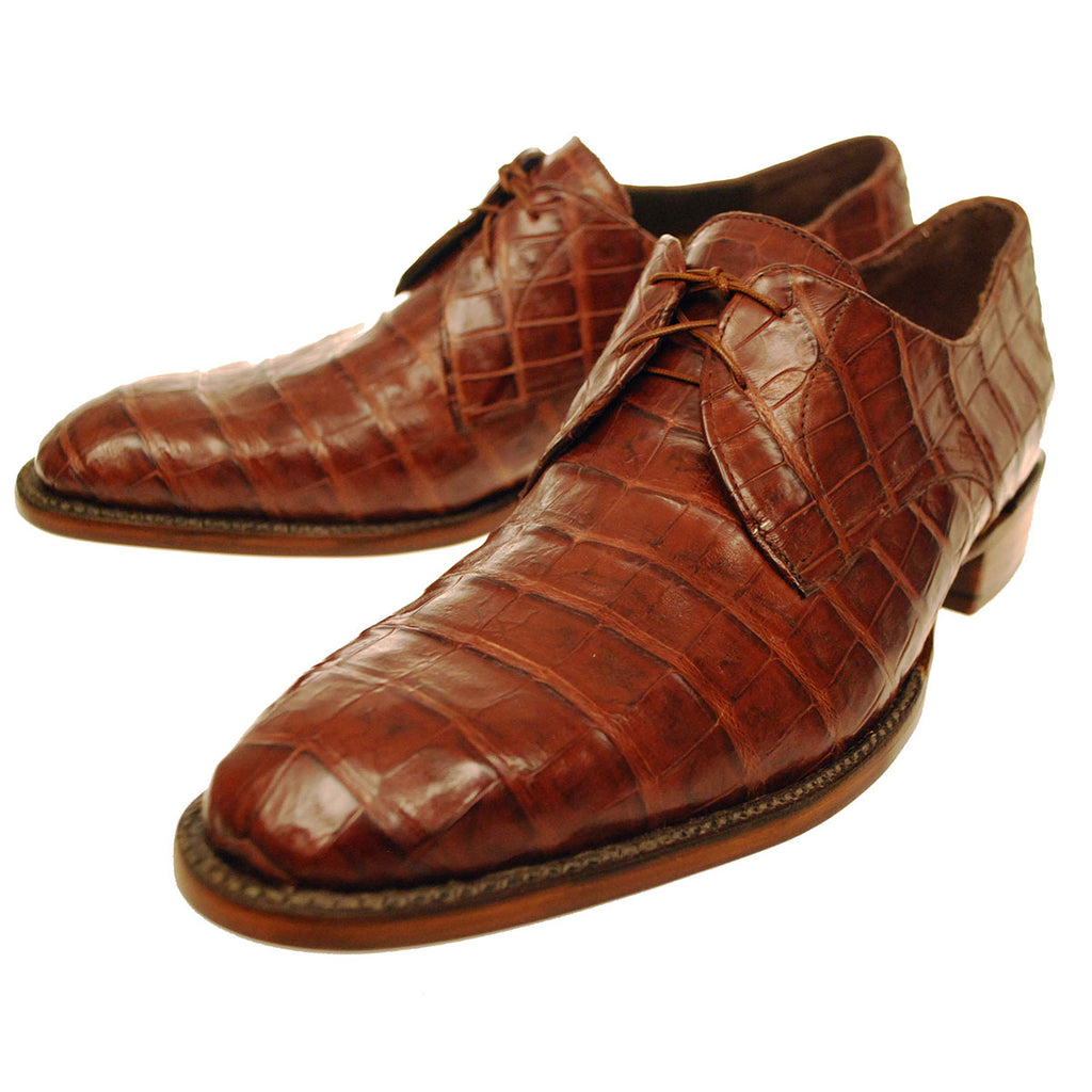 Sienna Caiman Crocodile Belly  Oxford