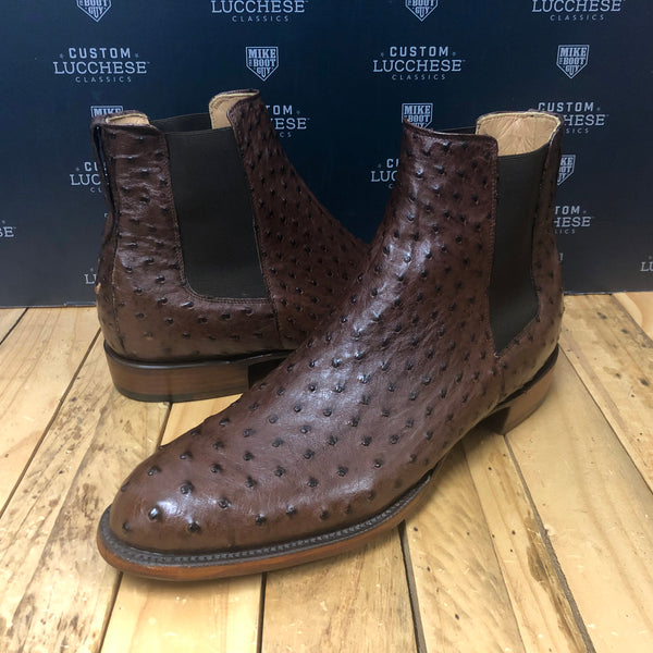 Custom Lucchese Chelsea with Sienna Full Quill Ostrich