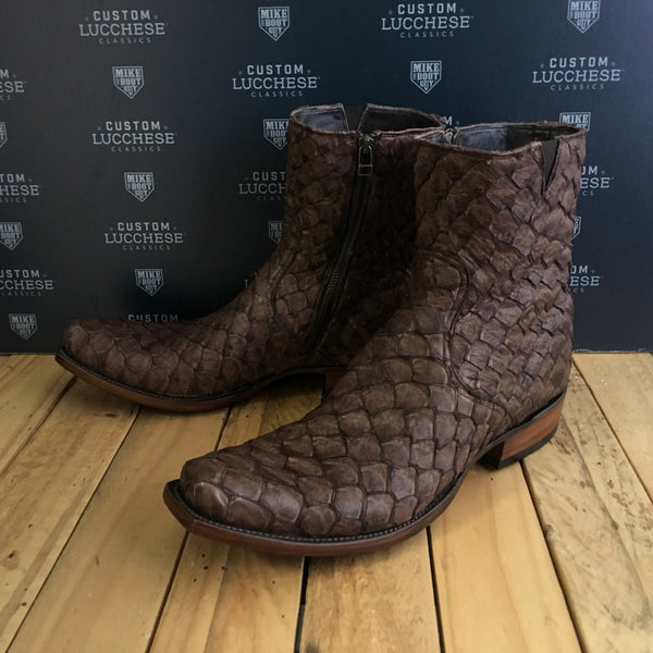 Custom Lucchese Jonah with Chocolate Pirarucu