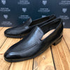 Custom Lucchese Loafer with Black Buffalo with Topline Piping