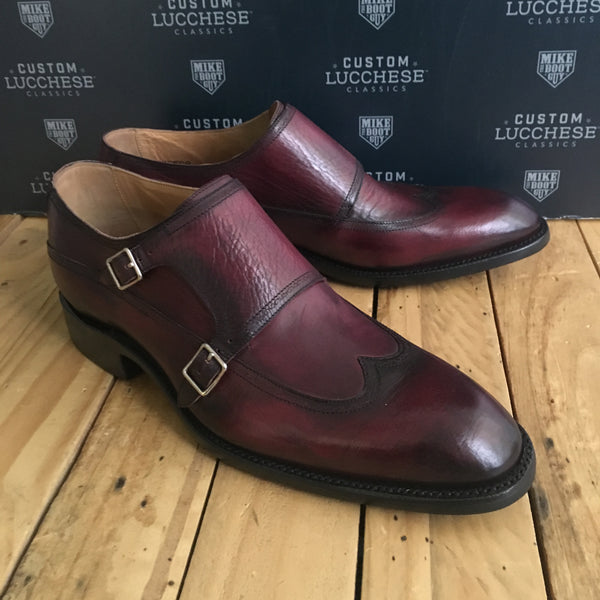 Custom Lucchese Oxford with Black Cherry Royal Calfskin