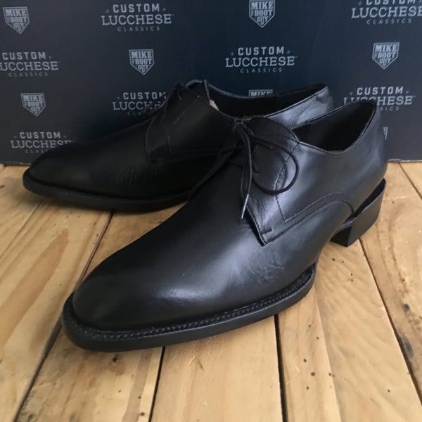 Custom Lucchese Oxford with Black Buffalo