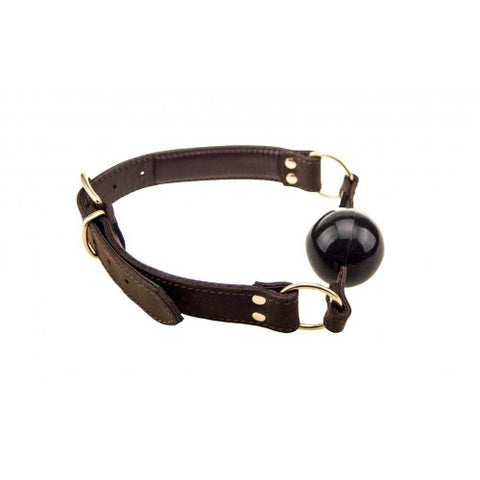 Nubuck Leather Solid Ball Gag
