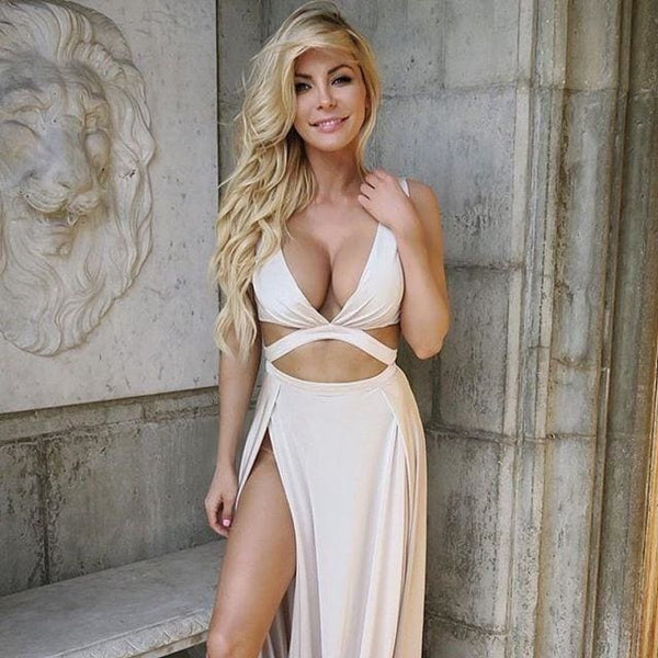 20K likes for Crystal Hefner in Naked Dresses