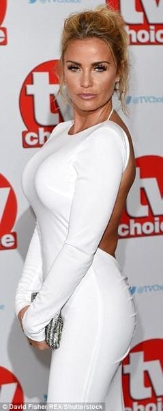 Katie Price in SABA for TV Choice Awards