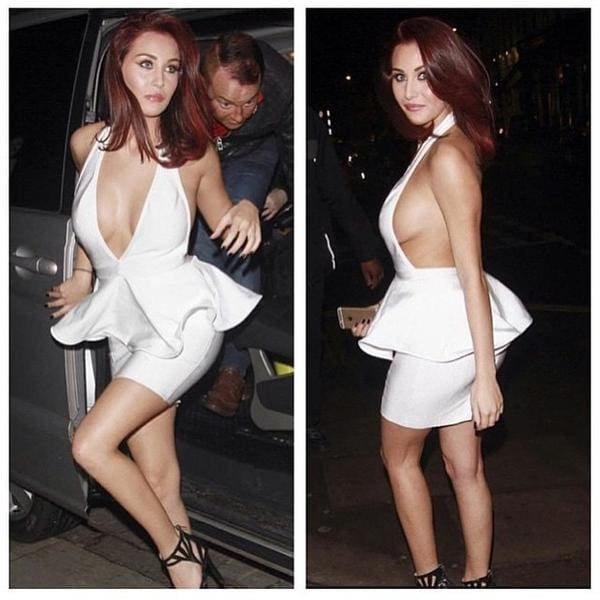 Papped.. Chloe Goodman in Naked Dresses