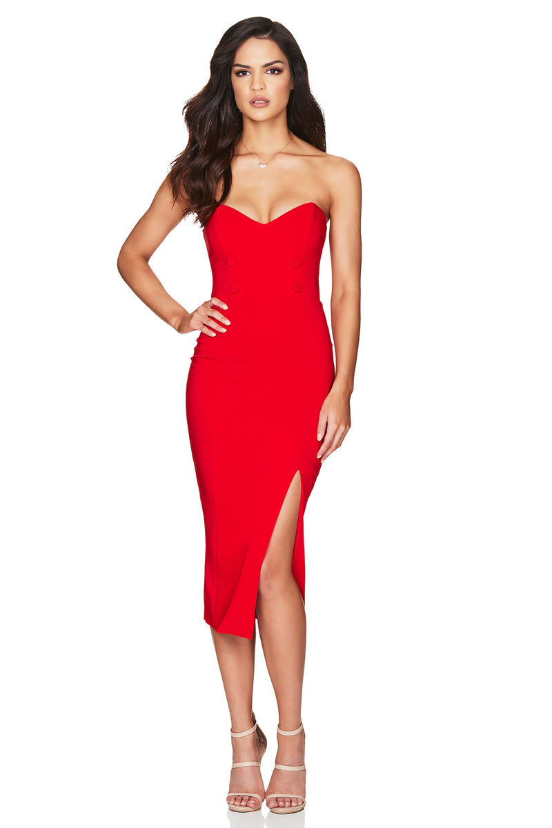 Nookie Bella Strapless Midi Dress