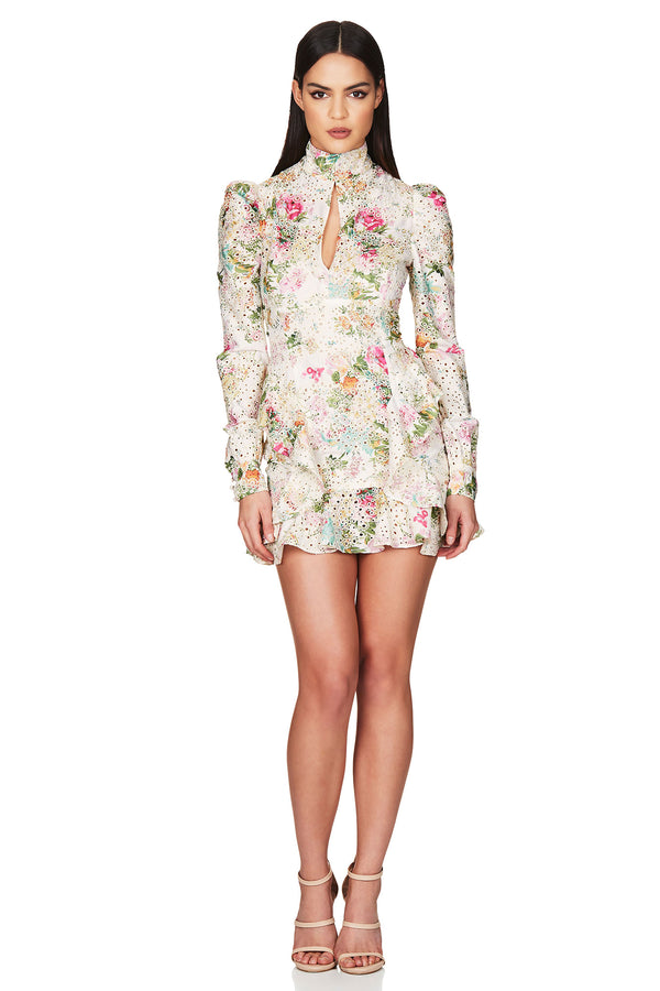 Darling Long Sleeve Mini Dress