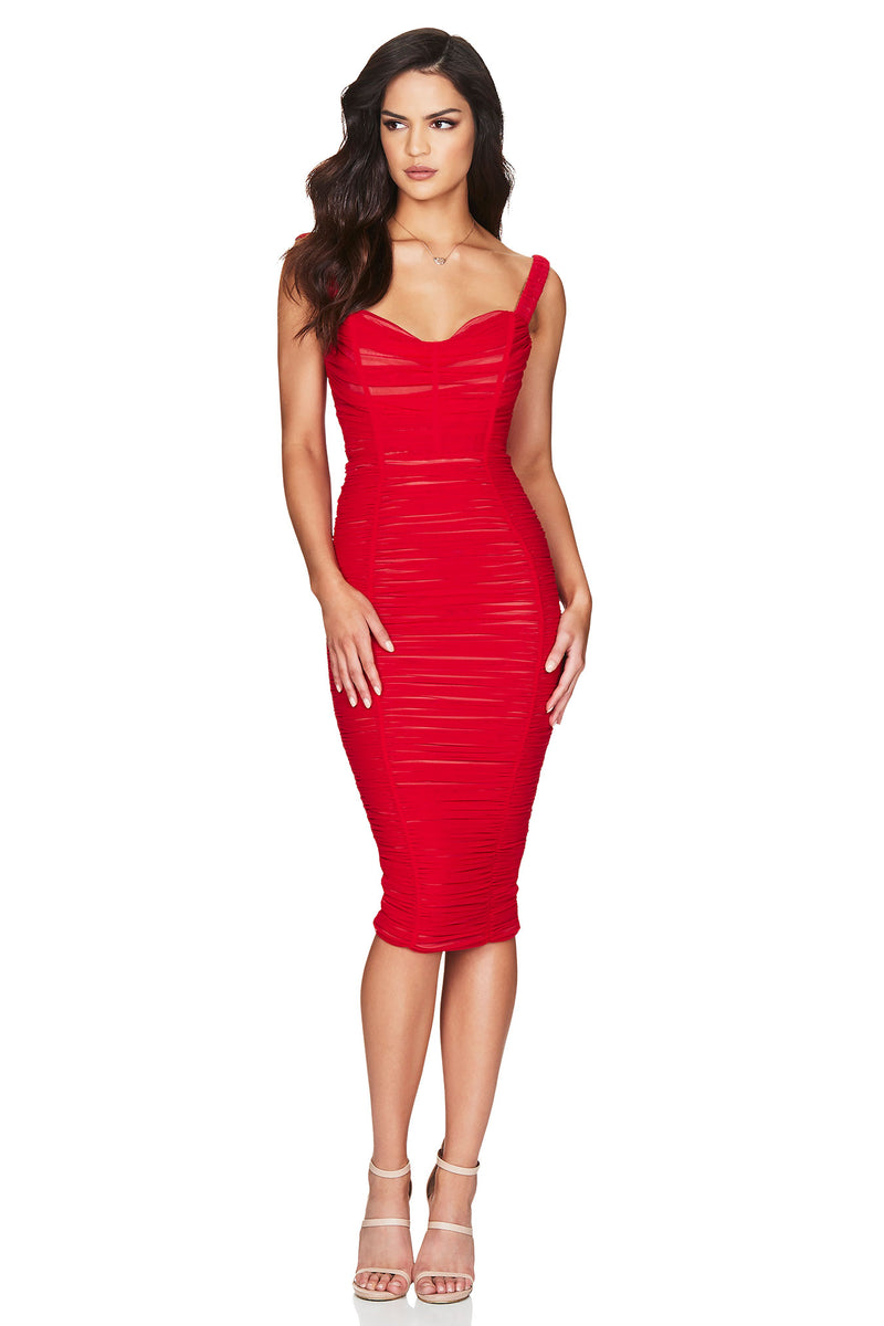 Nookie Dita Mesh Midi Dress