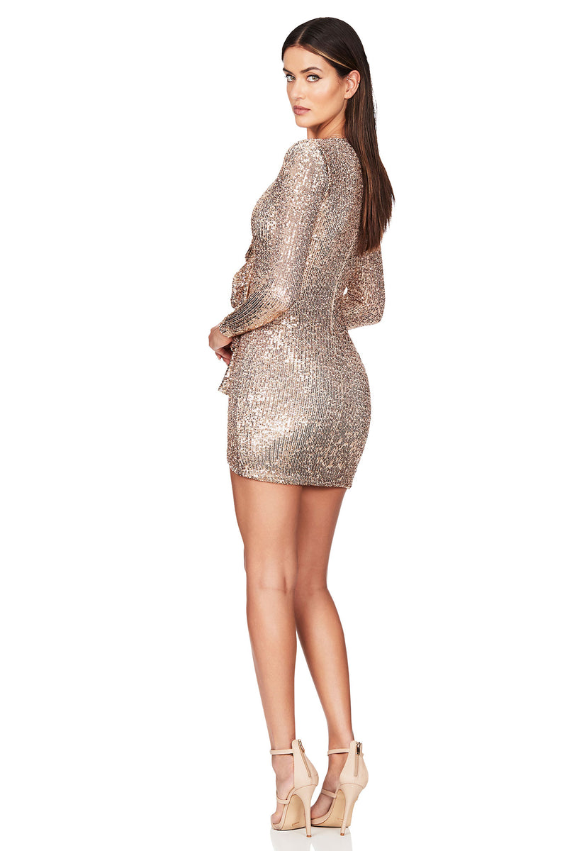 Galaxy Long Sleeve Mini Dress