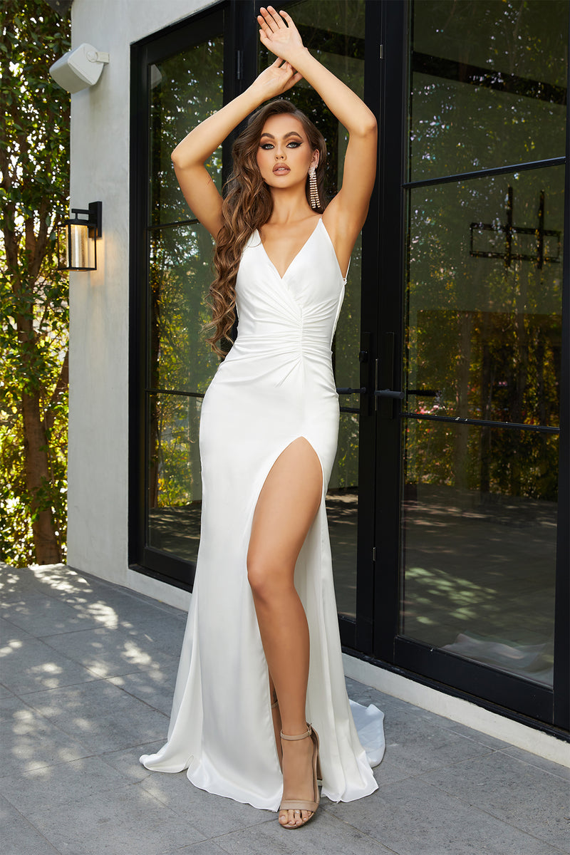 Portia & Scarlett Hugo Gown | White Prom & Bridal Evening Gown