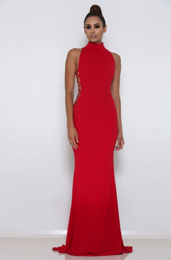 Abyss By Abby Kenya Gown - Dress __Tab1:sizeguide-Abyss: Brand_Abyss By Abby Colour_Red Delivery_Next Day Dress Style_Evening Gown Abyss By