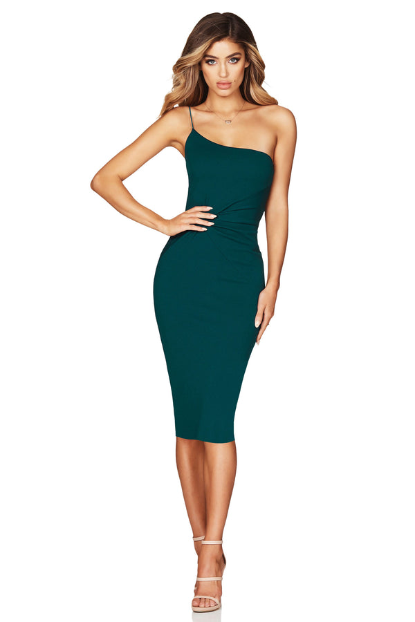 Nookie Lust One Shoulder Midi Dress
