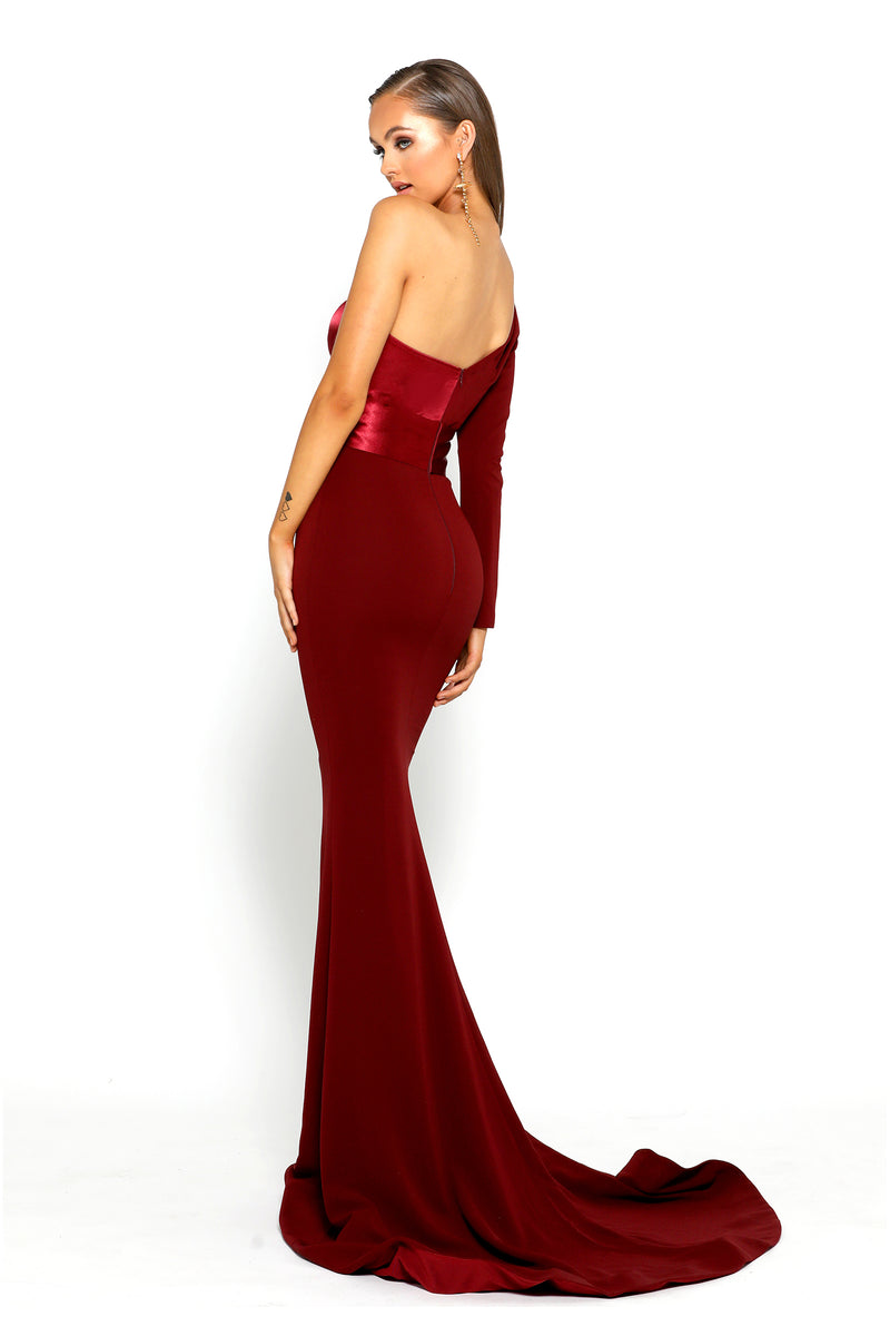 Model Showcasing - Portia & Scarlett One Shoulder Gown