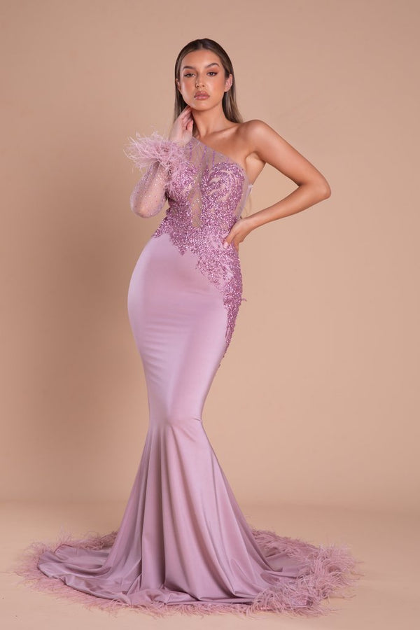 Portia & Scarlett Cassidy Gown PS21140 | Dusty Rose Prom Dress