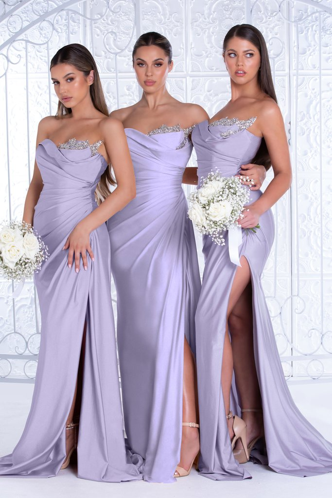 Portia & Scarlett Reene Gown PS21218 | Strapless Lilac Purple Bridesmaid Dresses UK