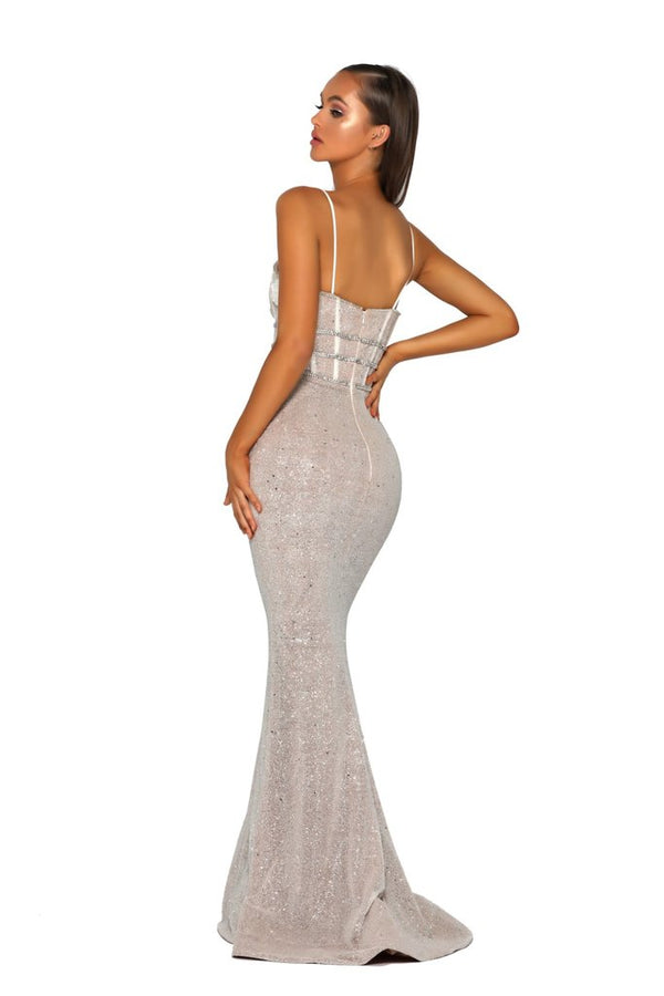 Portia & Scarlett Nude Ivory Gown