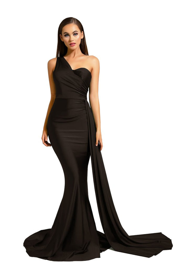 Portia & Scarlett Alana Gown PS6321 | Black Prom & Bridesmaid Dress