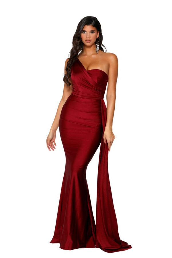 Portia & Scarlett Alana Gown PS6321 | Red Prom & Bridesmaid Dress