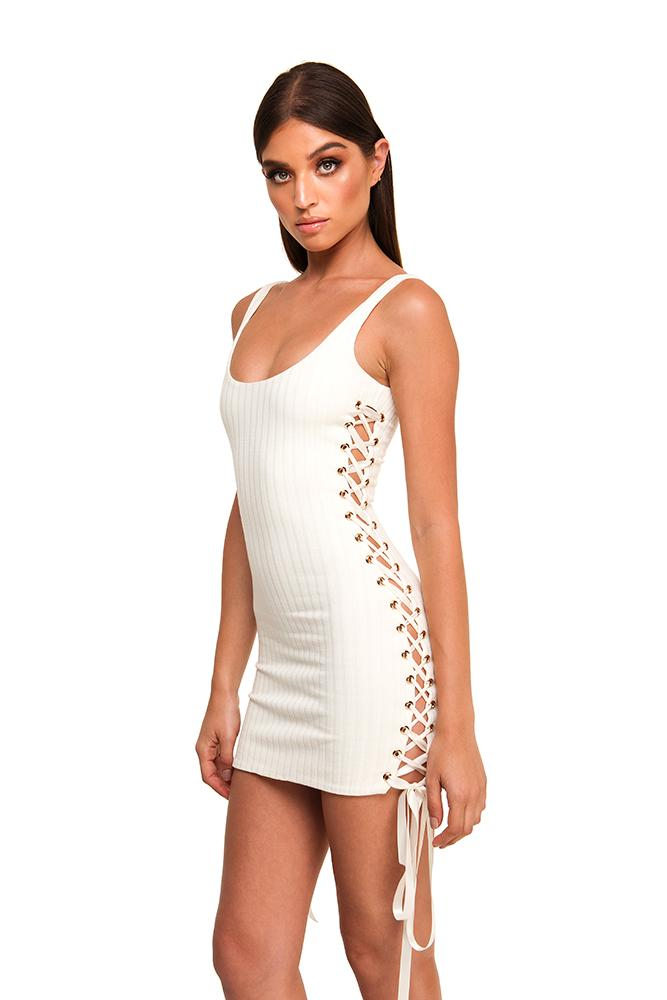 Sbb The Label Santana Mini - Dress __Tab1:sizeguide-Sbbthelabel: Brand_Sbb The Label Colour_Cream Delivery_Next Day Dress Style_Mini Sbb The