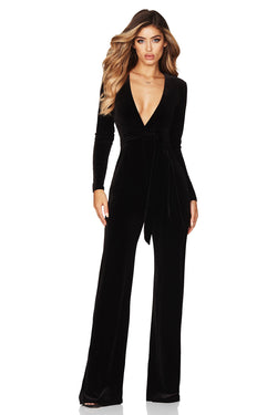 Model Showcasing - Nookie Vamp Velvet Jumpsuit