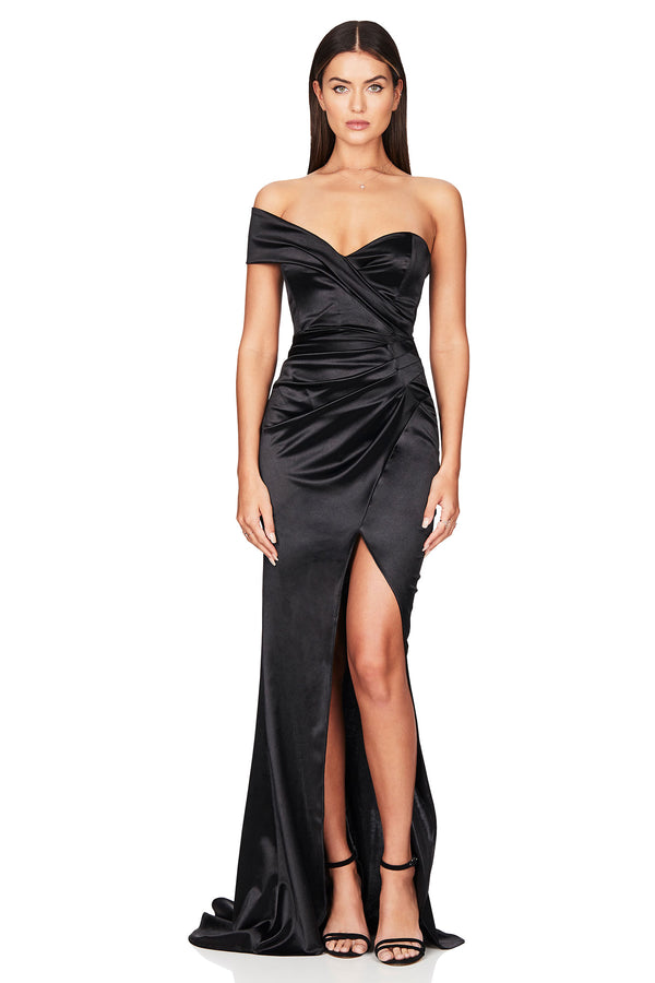 Nookie Zodiac One Shoulder Gown
