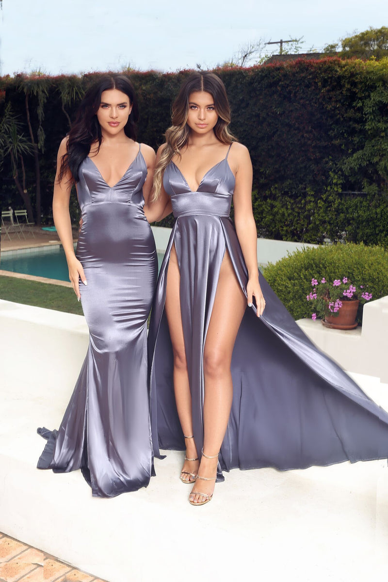 Abyss by Abby Nikki Gown - Grey evening gown dresses from NakedDresses.com