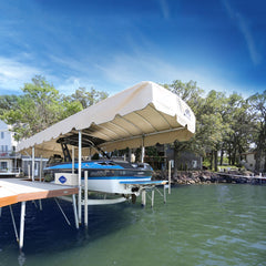 Legacy canopy on a ShoreStation free-standing boat lift
