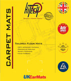 Genuine Hitech Nissan Primera 2002-2008 Black Tailored Carpet Car Mats