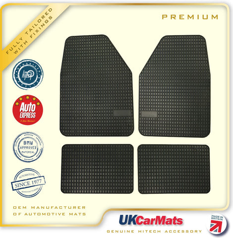 Hitech Crown Universal TPE Rubber Car Mats - Floor Mats Set of 4