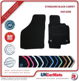 Genuine Hitech Smartcar Fortwo (450) 1998-2007 Black Tailored Carpet Car Mats