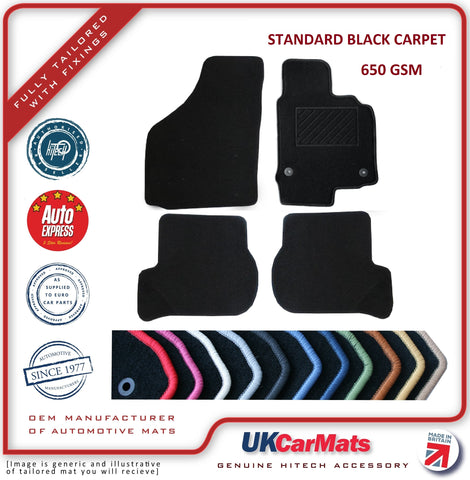 Genuine Hitech Alfa Giulietta Automatic 2010-2014 Black Tailored Carpet Car Mats