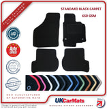 Genuine Hitech Fiat 500 2007-2014 Black Tailored Carpet Car Mats