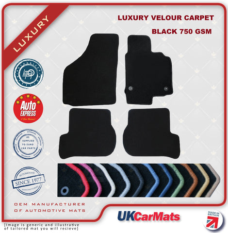 Genuine Hitech Alfa Romeo 147 2001-2004 Black Luxury Velour Tailored Car Mats