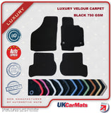 Genuine Hitech Toyota Carina 2 1988-1992 Black Luxury Velour Tailored Car Mats