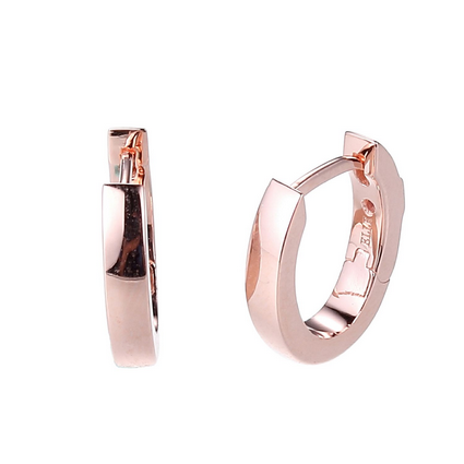 ELLE Sterling Silver and Rose Gold Plated Earrings