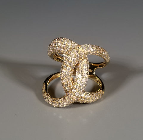 EFFY 14kt Yellow Gold Diamond Ring Size 7