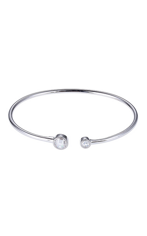 ELLE Essence 3.0 Collection Sterling Silver and CZ Cuff B0371