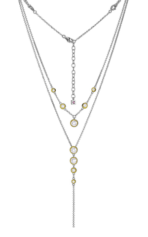 ELLE Essence 3.0 Collection Two Tone Drop Necklace N0833