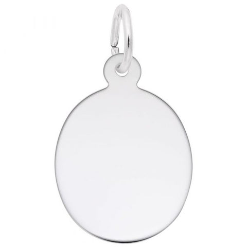 Oval Disk Charm
