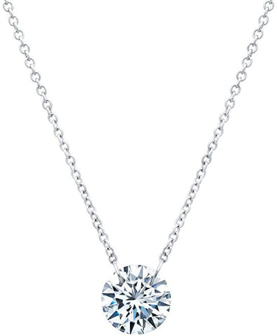 Lafonn Simulated Diamond Necklace in Sterling Silver Bonded Platinum