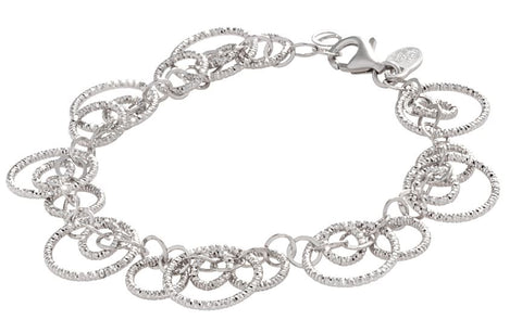 Lady's Sterling Silver Diamond Cut Circulation Bracelet.